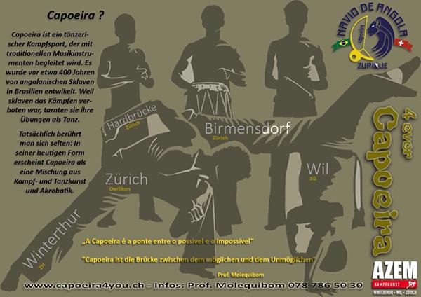 Jetzt neu jeden Samstag Capoeira im Angebot