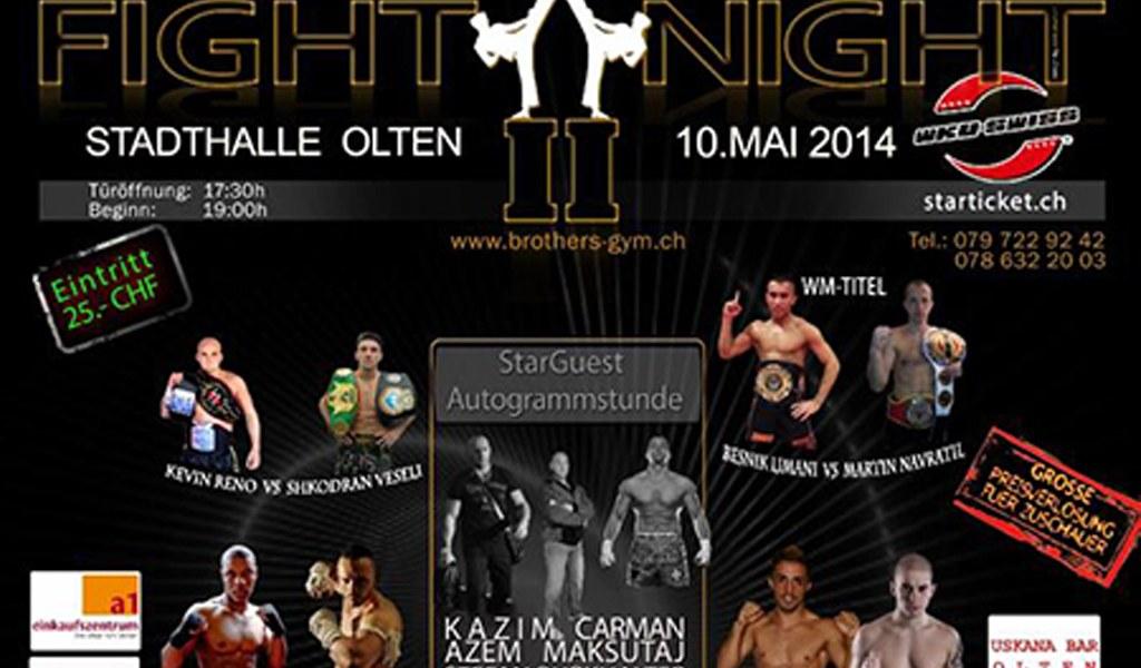 Brothers-Gym Fight Night 2 Weltmeisterschaft Kick/Thaiboxen in Olten