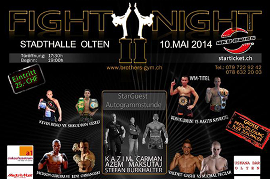 Brothers-Gym Fight Night 2 Weltmeisterschaft Kick/Thaiboxen in Olten