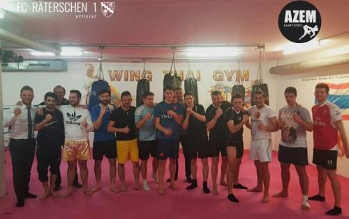 Thaibox-Training als Vorbereitung mit FC Räterschen 1